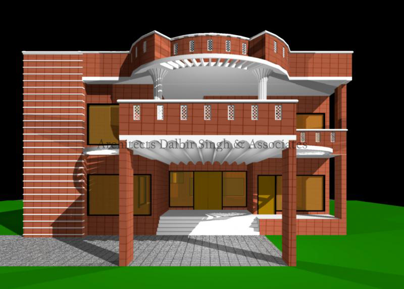 Front Design Of House In Punjab Part - 42: House Building Design Architect. Front Area Design Residence